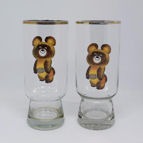 1980年 モスクワオリンピック こぐまのミーシャ グラス | Kitten Blue