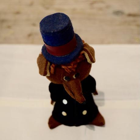 ハンガリー フェルトのお人形 きつねの紳士 1960年代