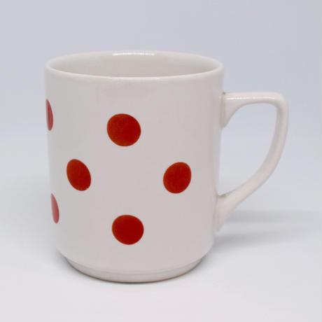 ルーマニア APULUM社マグカップ 赤水玉