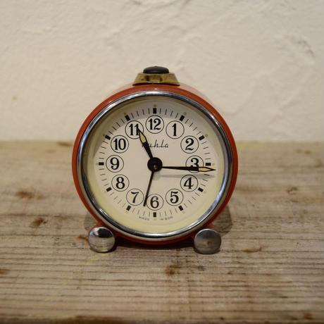 旧東ドイツ ゼンマイ式 手巻き時計  Ruhla 赤