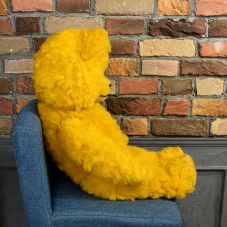 旧東ドイツ 大きな黄色のクマさん ぬいぐるみ