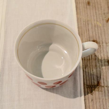 ハンガリー 水玉ラインのカップ