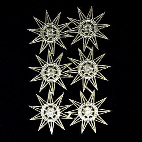 ドイツ ドレスデン ホイル 紋章 星 6セット
