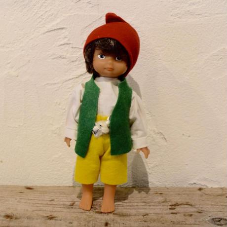 旧東ドイツ 緑チョッキの男の子 デッドストック