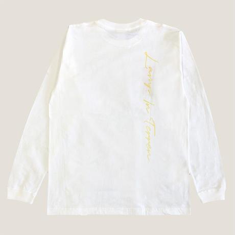 LAMP IN TERREN / リベル君 ロングTシャツ(ホワイト)