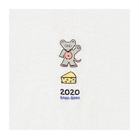 KANA-BOON / 2020 ねずみ刺繍ロンT/ホワイト