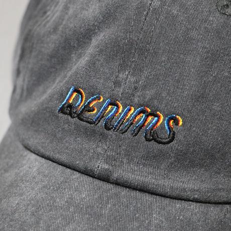 DENIMS / 3Dロゴ刺繍キャップ