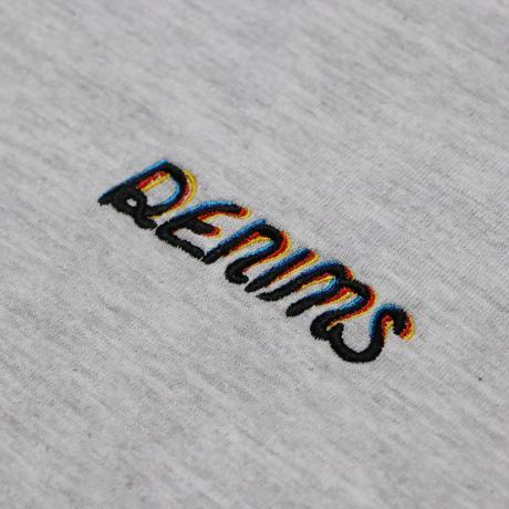 DENIMS / 3Dロゴ刺繍Tシャツ (アッシュ)