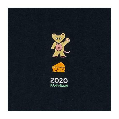 KANA-BOON / 2020 ねずみ刺繍ロンT/ブラック