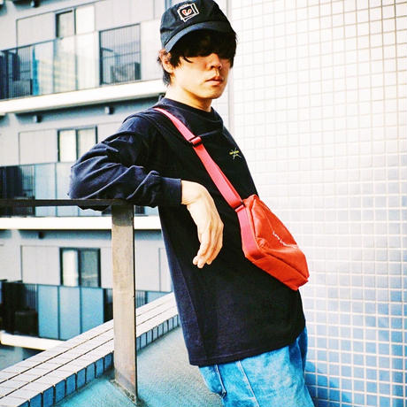 LAMP IN TERREN / 花十字ロングTシャツ(ブラック)