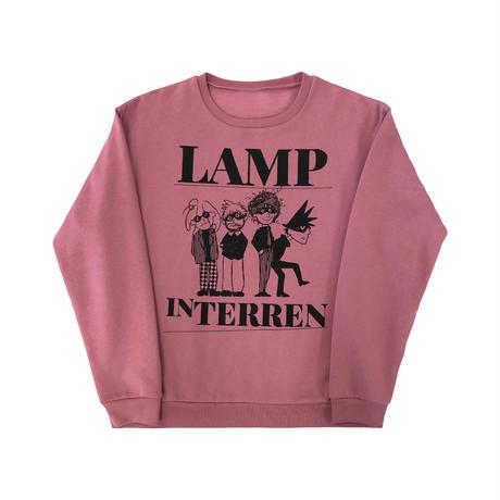 LAMP IN TERREN / CREWトレーナー(スモーキーピンク)
