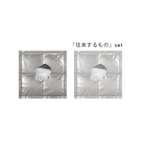 odol / square badge & clear sticker set / 「往来するもの」set