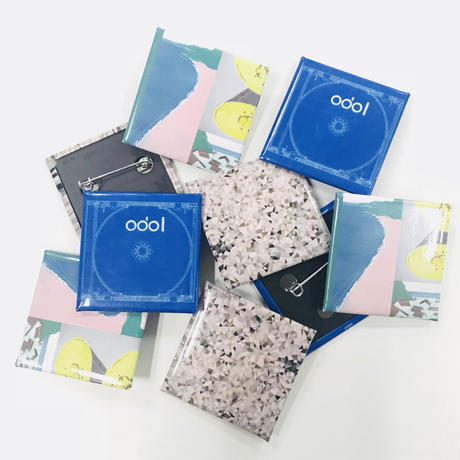 odol / square badge & clear sticker set / 「four eyes」set
