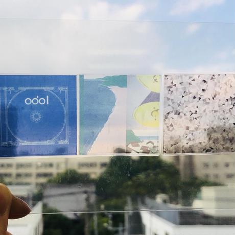 odol / square badge & clear sticker set / 「odol」set