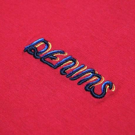 DENIMS / 3Dロゴ刺繍Tシャツ(レッド)