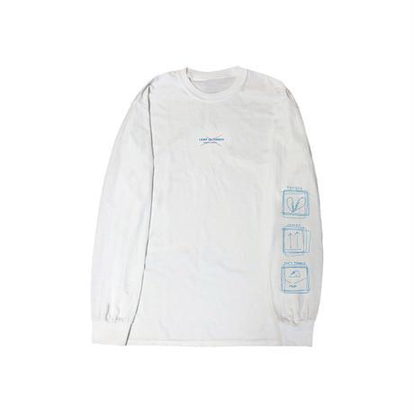 LAMP IN TERREN / 花十字ロングTシャツ(ホワイト)