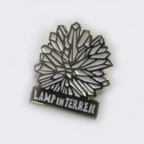 LAMP IN TERREN / クリスタルピンバッジ(ゴールド×ホワイト)