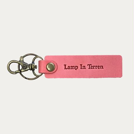 LAMP IN TERREN / レザーキーホルダー(ピンク)