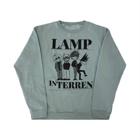 LAMP IN TERREN / CREWトレーナー(モスグリーン)