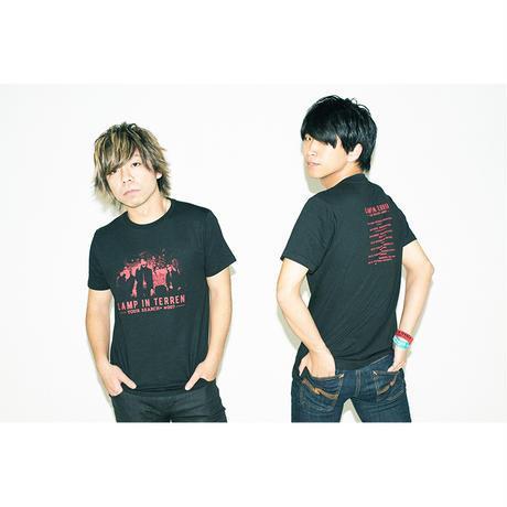 LAMP IN TERREN / TOUR「SEARCH+ #007」Tシャツ(ブラック)