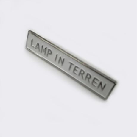 LAMP IN TERREN / バンド ピンバッジ (シルバー×ホワイト)