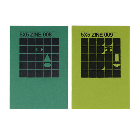 "ミュージックガイド ""AMAZING SOUNDS"" GRAPHIC MAGAZINE「5X5 ZINE 008」「5X5 ZINE 009」"