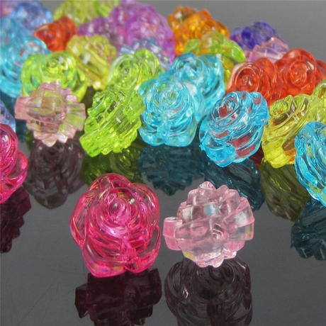 Clear Rose Bead × 30 pieces