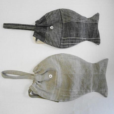 poissonnerie fish bag S (リネンストライプ)