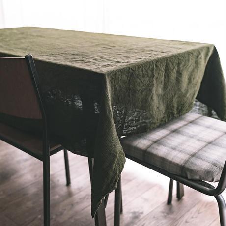[日本製品染め]リネン テーブルクロス[Mサイズ 180cm×130cm][チェック/ストライプ]teint TE-010C/S
