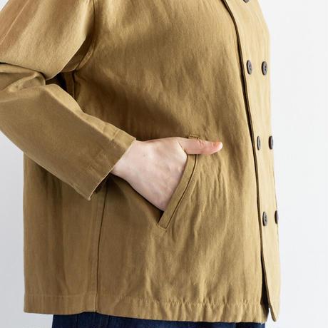 コットン リネンツイルダブルブレステッドジャケット Heavenly ヘブンリー 2112153