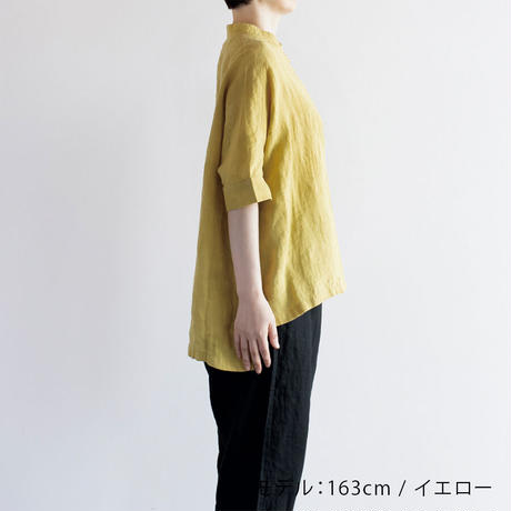 リネンドットバンドカラーシャツ / Heavenly ヘブンリー / 2123062