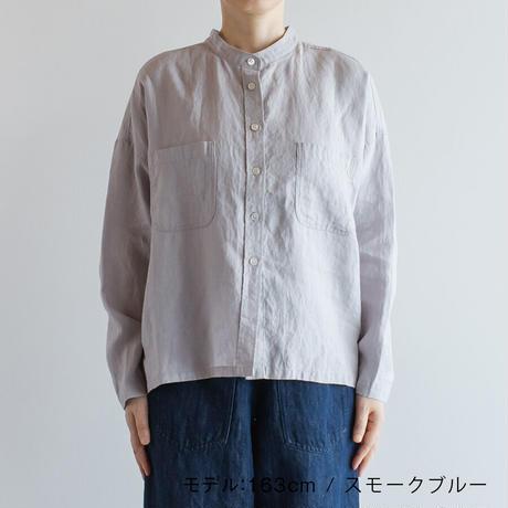 リネンバンドカラーワイドシャツ Heavenly ヘブンリー 2112032