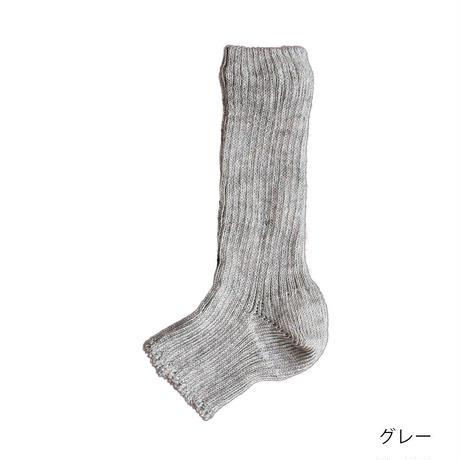 リネン&オーガニックコットン リブ サンダルソックス / Homie ホミー / H-057