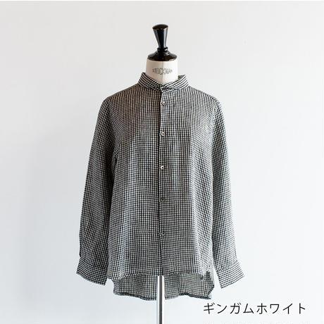 リネン ラウンドカラーシャツ Heavenly ヘブンリー 2111092