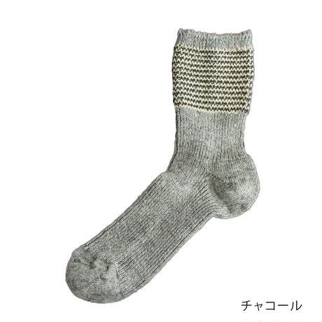 コットンリネン ジャガード ソックス / Homie ホミー / H-053