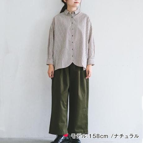 リネンコットン ストライプシャツ Heavenly 2062062