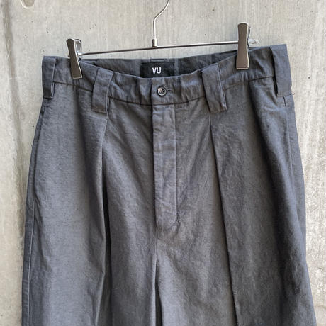 VU - dyed knee wide pants [ GRAPHITE ]