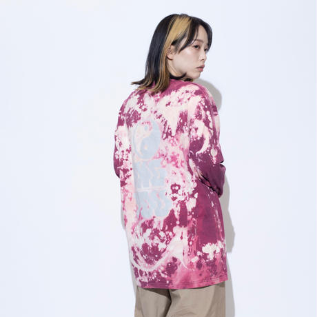 ING YOU back print long sleeve T-shirts [ tie-dye ]