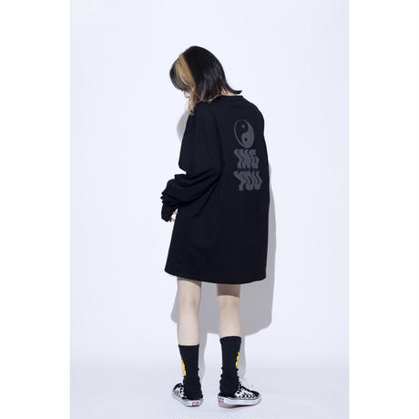 ING YOU back print long sleeve T-shirts [ BLK ]