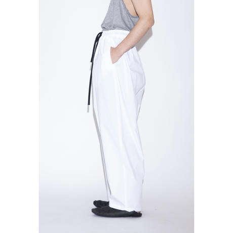 my beautiful landlet TECHNO WIDE EASY PANTS [ WHT ]