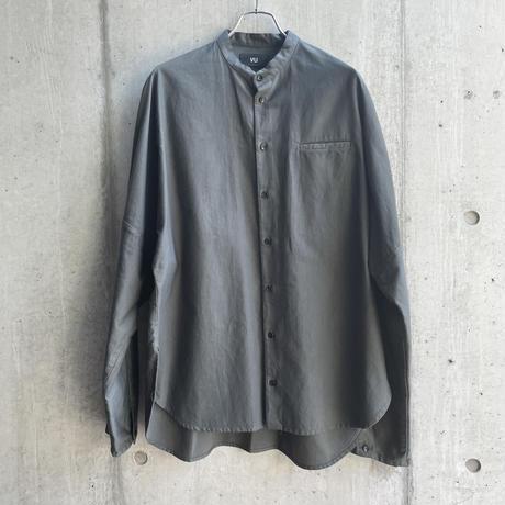 VU - dyed stand collar shirt [ GRAPHITE ]
