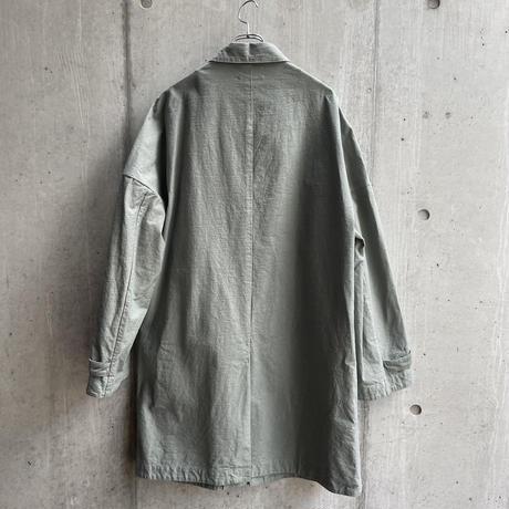 VU - dyed coat [ GREEN GRAY ]