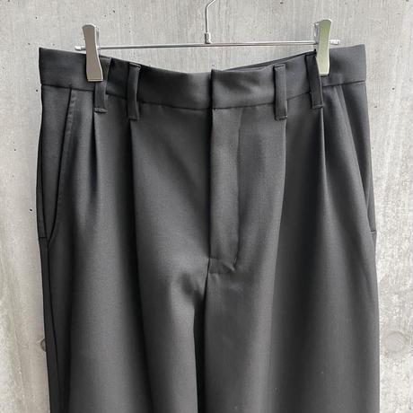 VUy - box slit pants [ BLACK ]