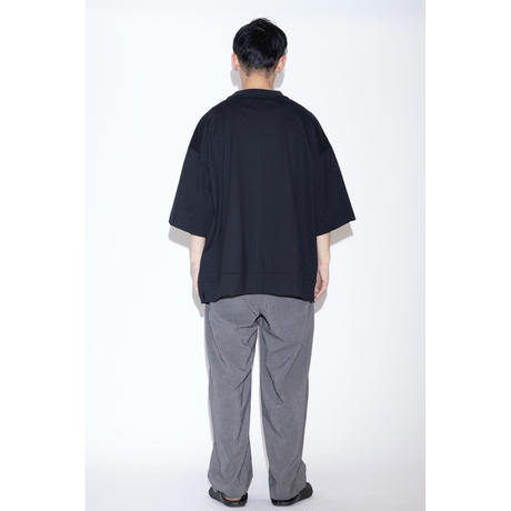VOAAOV COTTON JERSEY BIG TEE [ BLK ]