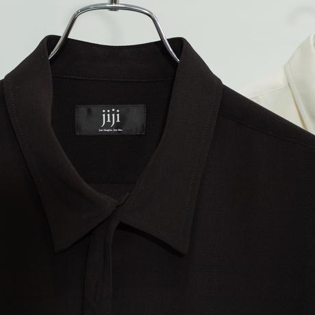 jiji - TIE SHIRT [ BLACK ]