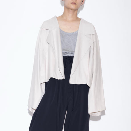 my beautiful landlet COTTON LYOCEL&LINE CANVAS WIDE JACKET [ BEG ]