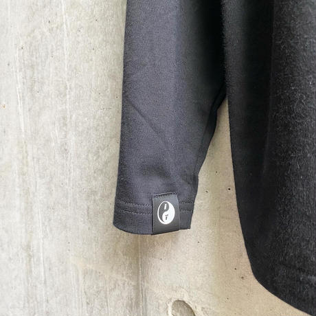 ING YOU - back print long sleeve T-shirts [ BLACK ]