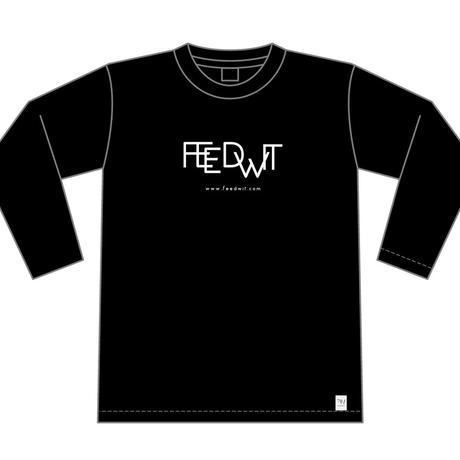 ロゴ ロンT <ブラック>【FEEDWIT】