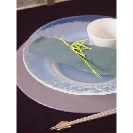 Glass Studio  シルバーメタル箸置き2個set