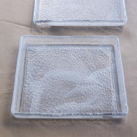 Glass Studio  ブラウンメタル2段スタンド ホワイトクラウドプレート付き